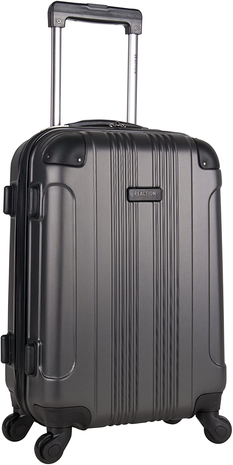 Kenneth Cole Reaction Out Of Bounds 20-Inch Carry-On Lightweight Durable Hardshell 4-Wheel Spinner Cabin Size Luggage, Charcoal