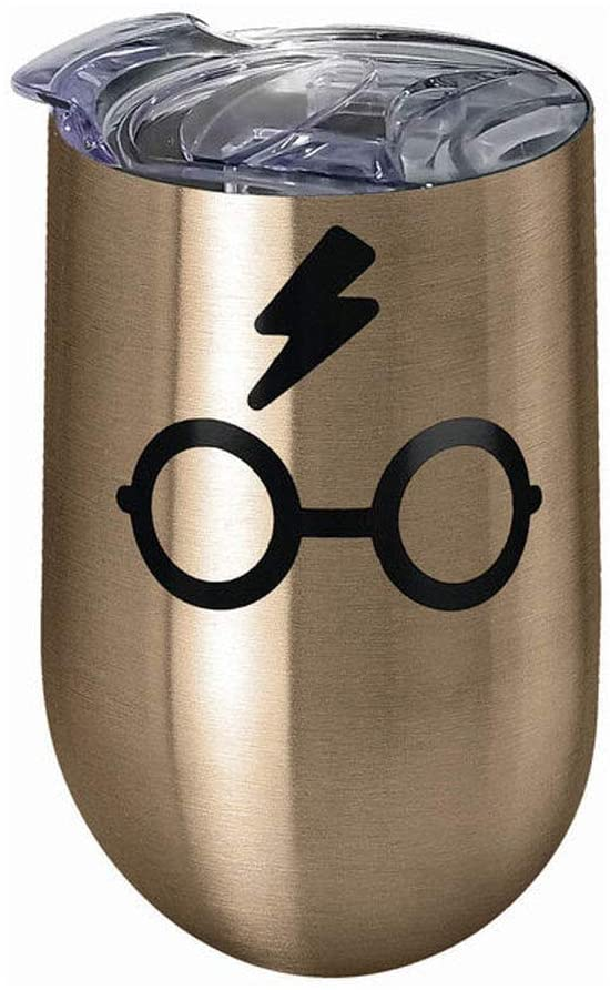 Spoontiques 16962 Harry Potter Glasses Stainless Steel Tumbler, 16 ounces, Bronze