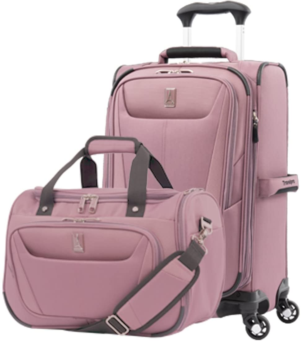 Travelpro Luggage Maxlite 5 | 2-Piece Set | Soft Tote and 21-Inch Spinner (Dusty Rose)