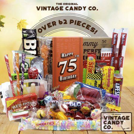 75th Birthday Vintage Candy Gift Box
