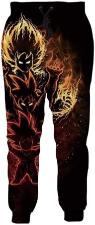 Anime print trousers