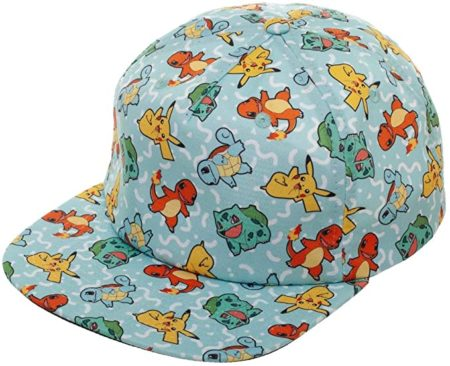 Bioworld Pokemon All Over Character Snapback Hat