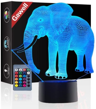 Elephant 3D Illusion Birthday Gift Lamp