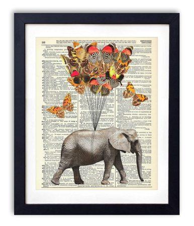 Elephant Dictionary Art