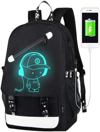 FLYMEI Anime Luminous Backpack for Boys