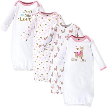 Hudson Baby Baby Girls' Cotton Gowns