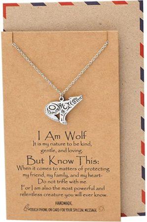 Loving Wolf Pendant Necklace