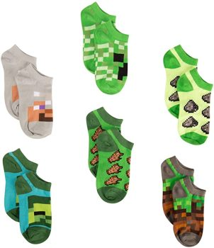 Minecraft Little Boys Low Cut Socks