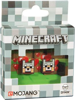 Minecraft Wolf Stud Earrings