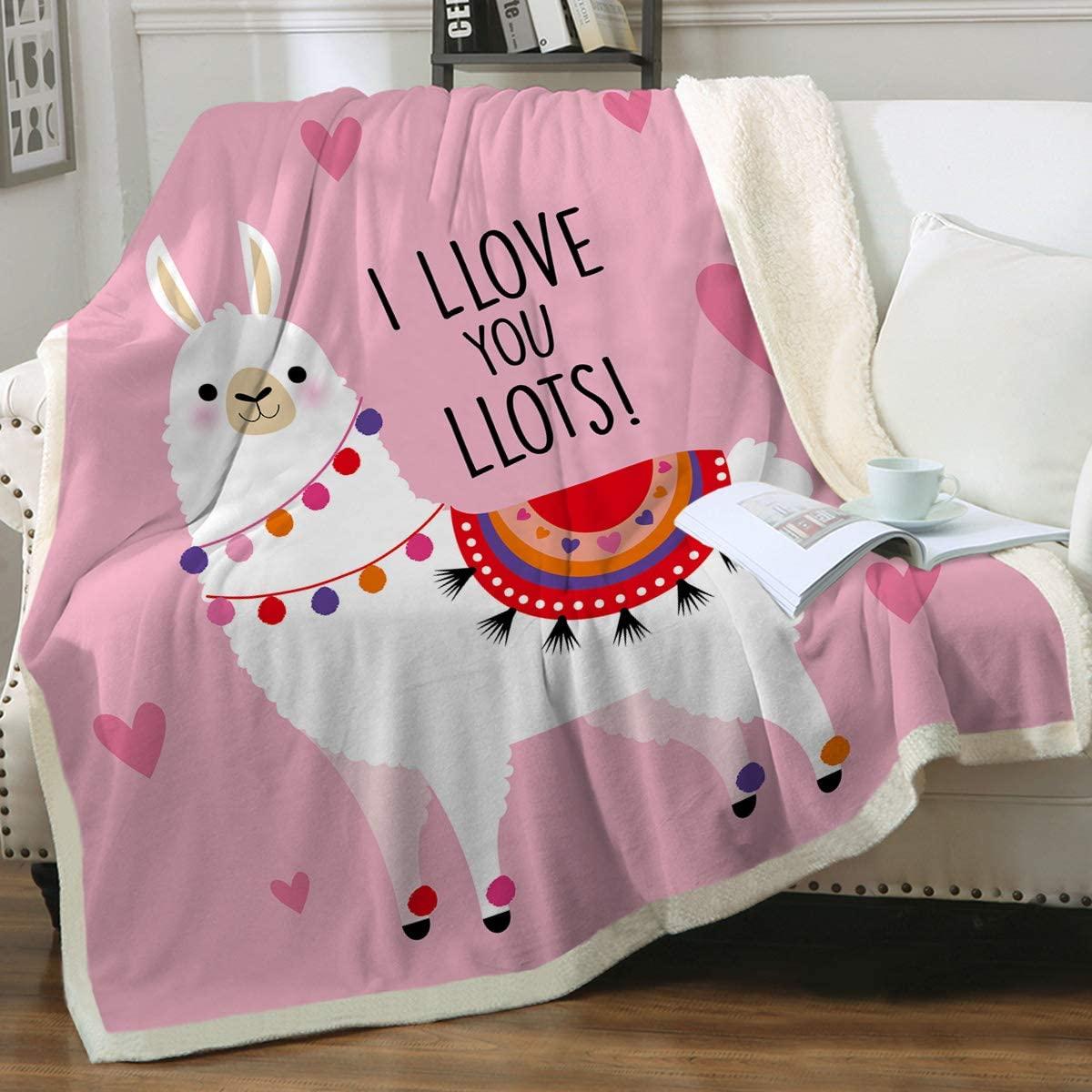 Sleepwish Llama Sherpa Blankets