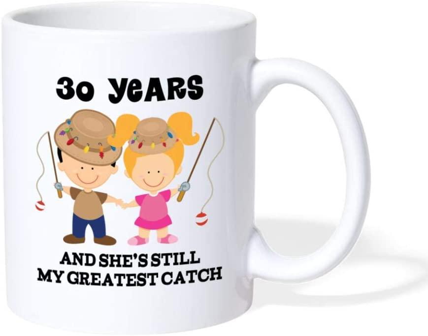3. 30th Anniversary Matching Couples Mugs