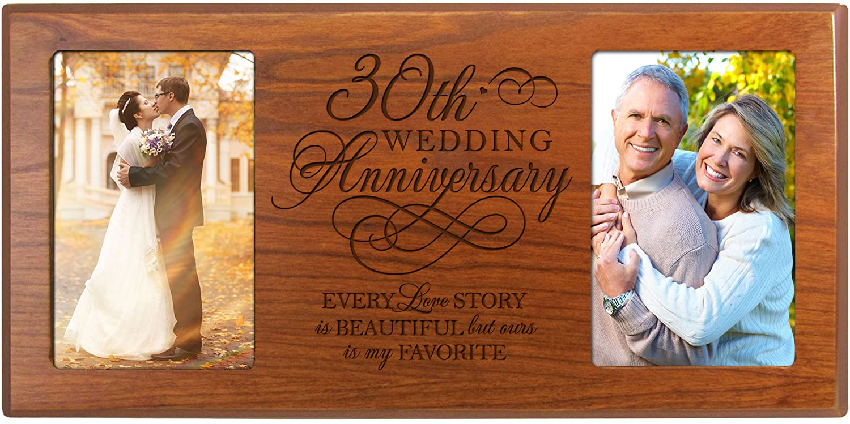 9. 30th Anniversary Wood Frame