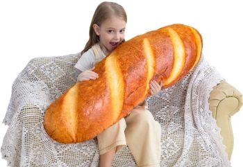 3D Bread Shape Pillow (Soft Cushion)