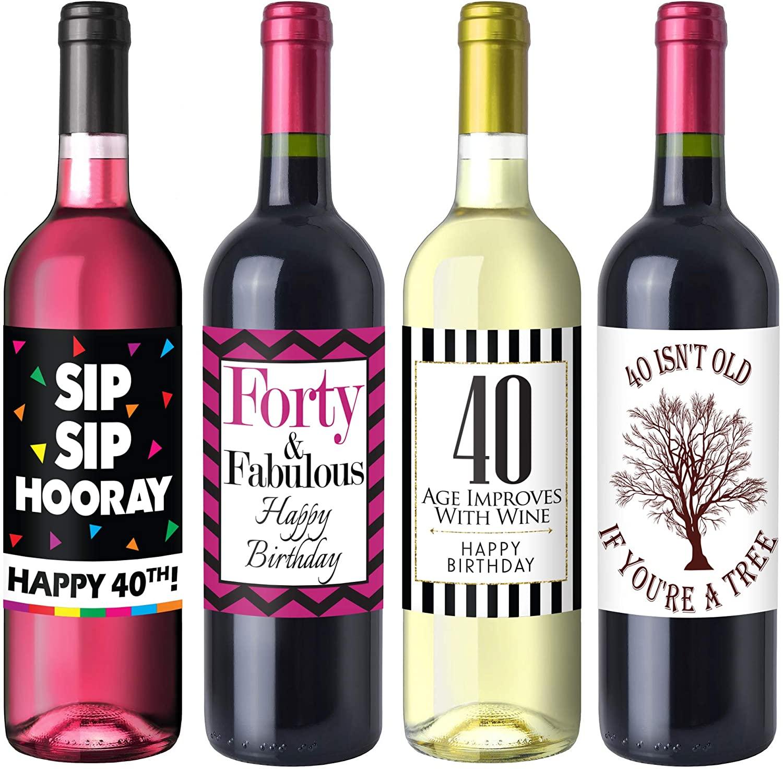 4. 40th Birthday Wine Labels