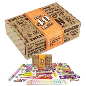 40th birthday funny candy box