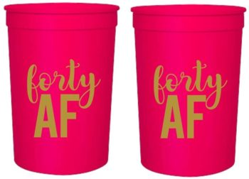 40th birthday party cups