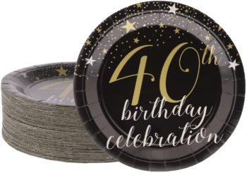 40th birthday party paper plates