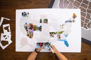 50 States USA Photo Map