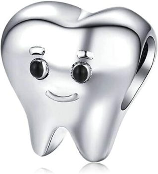 Eternalll Jewellery Smiling Tooth Fairy Dentist Charm Bead