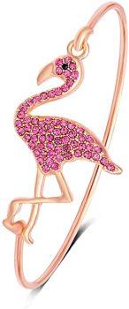 SENFAI Full Rhinestone Flamingo