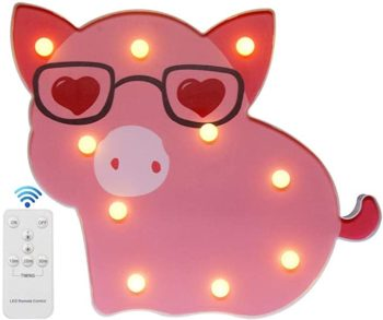 Piggy decorative night light