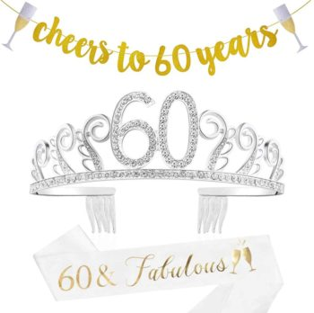 60th Birthday Decorations Gifts for Women