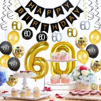 60th Birthday Decorations Party Supplies