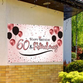 60th Rose Gold Birthday Party Decoration