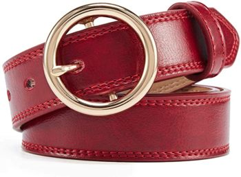 Women's leather jeans belt