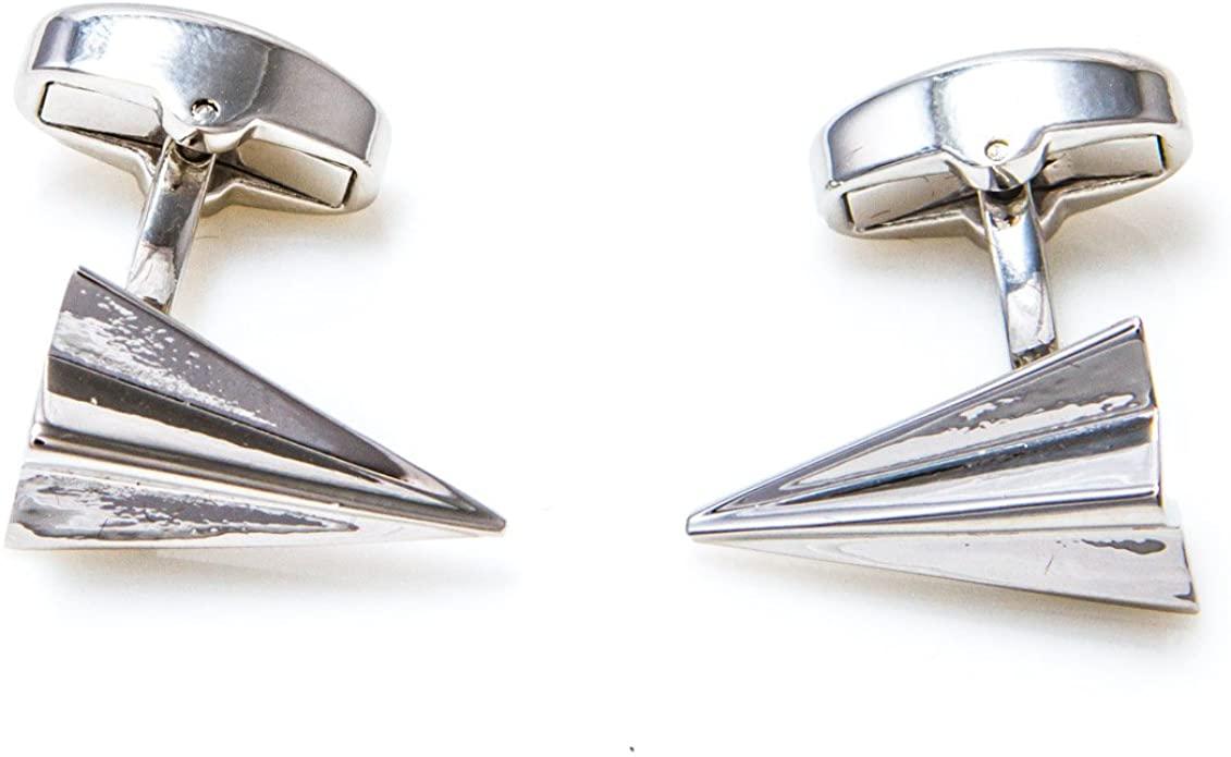 6. Paper Plane Cufflinks