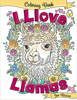 Love Llamas Coloring Book