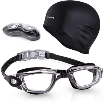 Swimming cap and goggle set