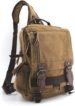 Jiao Miao Canvas Shoulder Backpack