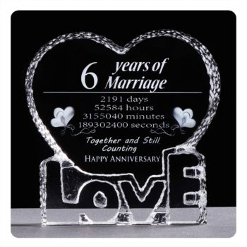 6th anniversary crystal sculpture
