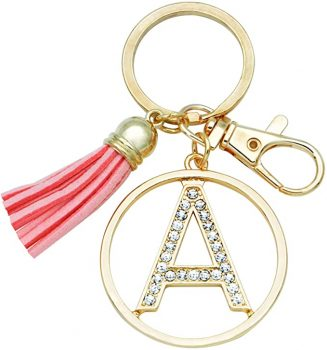 Letter Keychain for Women Purse Charms for Handbags