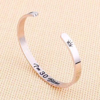 30 year old birthday bracelet gift