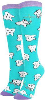 Women's Dental Unicorn Knee High Socks