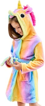 Soft Hooded Bathrobe Sleepwear