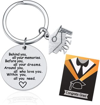 A graduation keychain for her