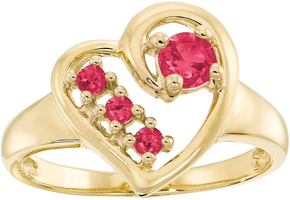 4. ArtCarved Mom's Gift Simulated Ruby Ring