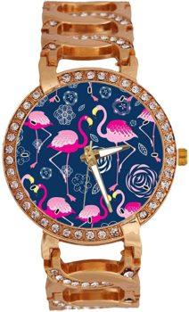 Rose Gold Flamingo Wrist Watch