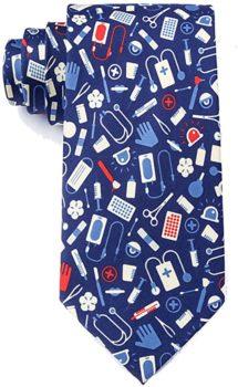 Navy Blue Microfiber Tie