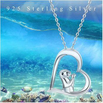 Sea Otter Prayer 925 Sterling Silver Necklace