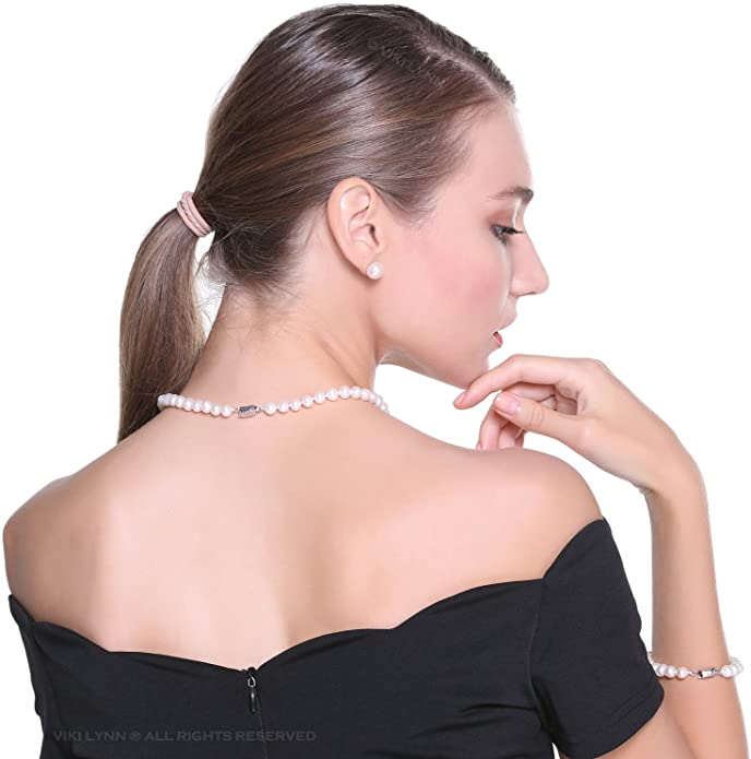 1. Freshwater Cultured Pearl Necklace Set