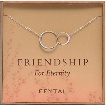 Sterling Silver Friendship for Eternity Necklace