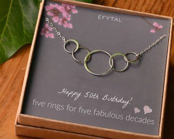 Sterling Silver Five Circle Necklace