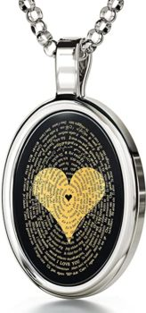 Love necklace 24k gold inscribed with I Love You