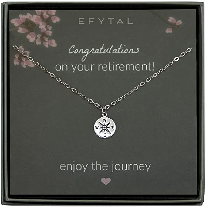 10. Enjoy the Journey Compass Necklace