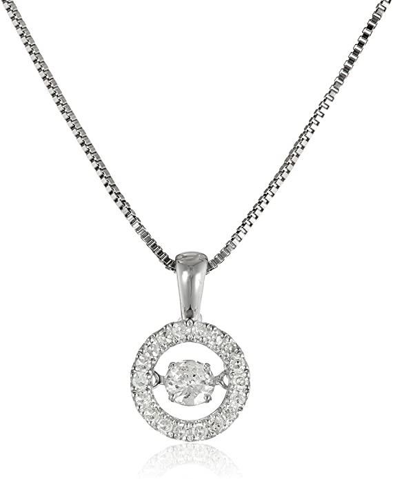 8. Dancing Diamond Circle Pendant Necklace