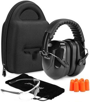 Shooting earmuffs and eye protection set